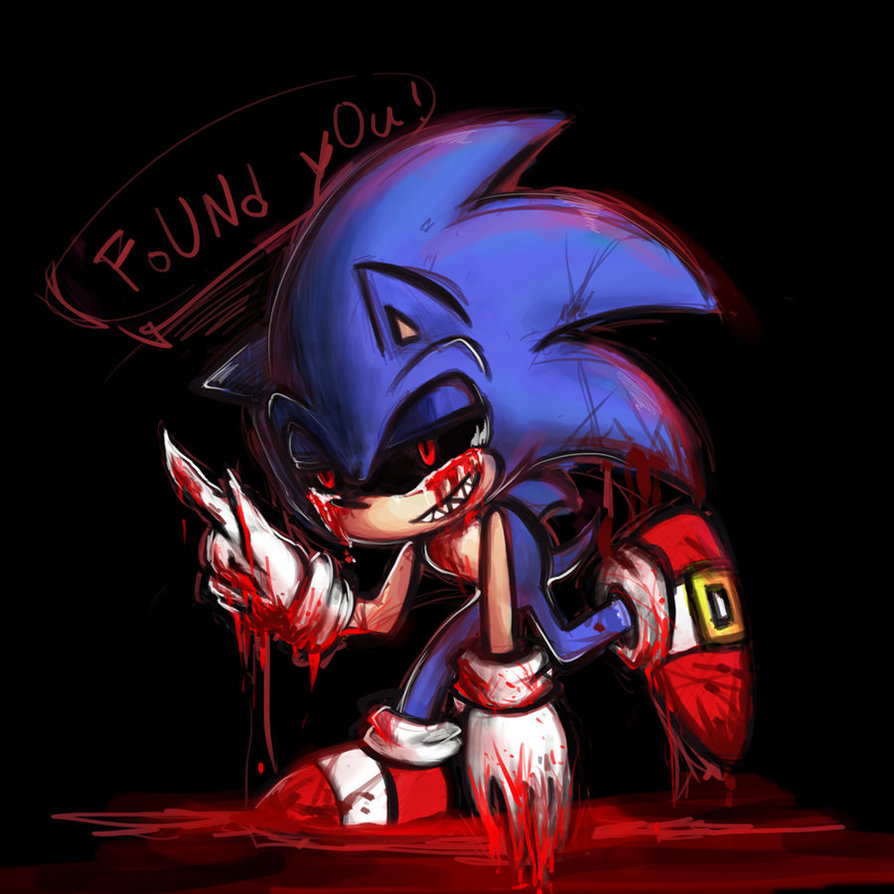 Sonic.EXE walking with blood