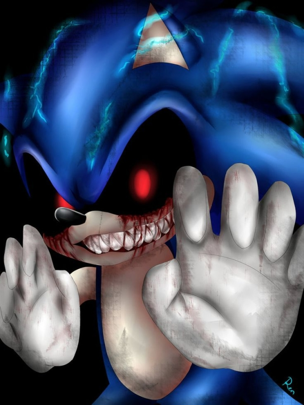 Sonic.EXE charging up and evil