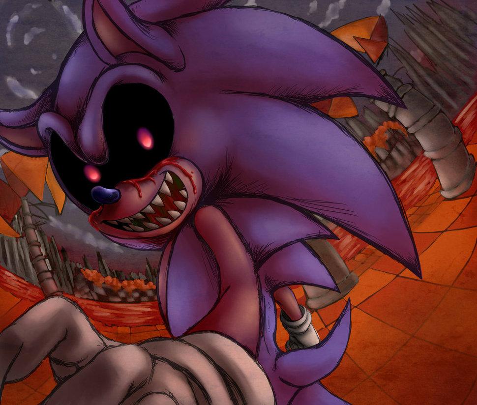 Sonic.exe looks evil