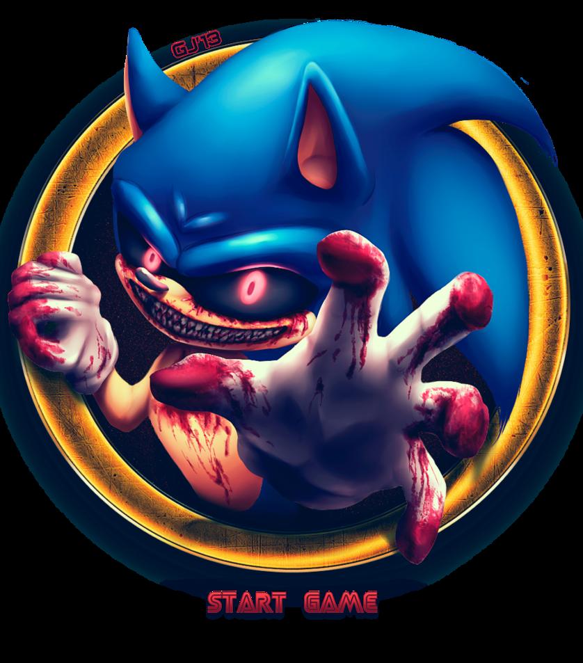 New Sonic.exe game menu
