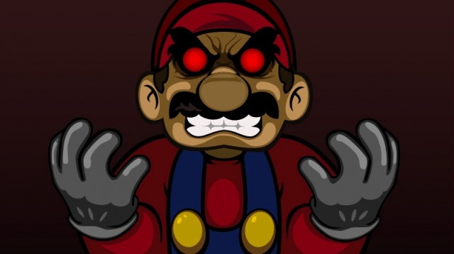 Mario Mad.EXE with Red Evil Eyes