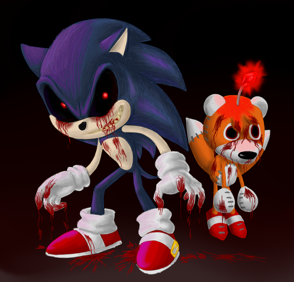 Sonic.exe with creepy tails doll