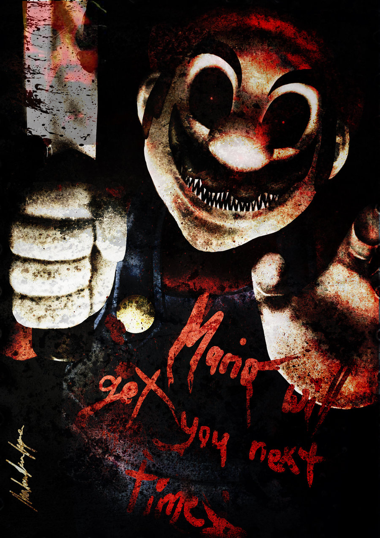 Creepy Dark Horror Mario.EXE